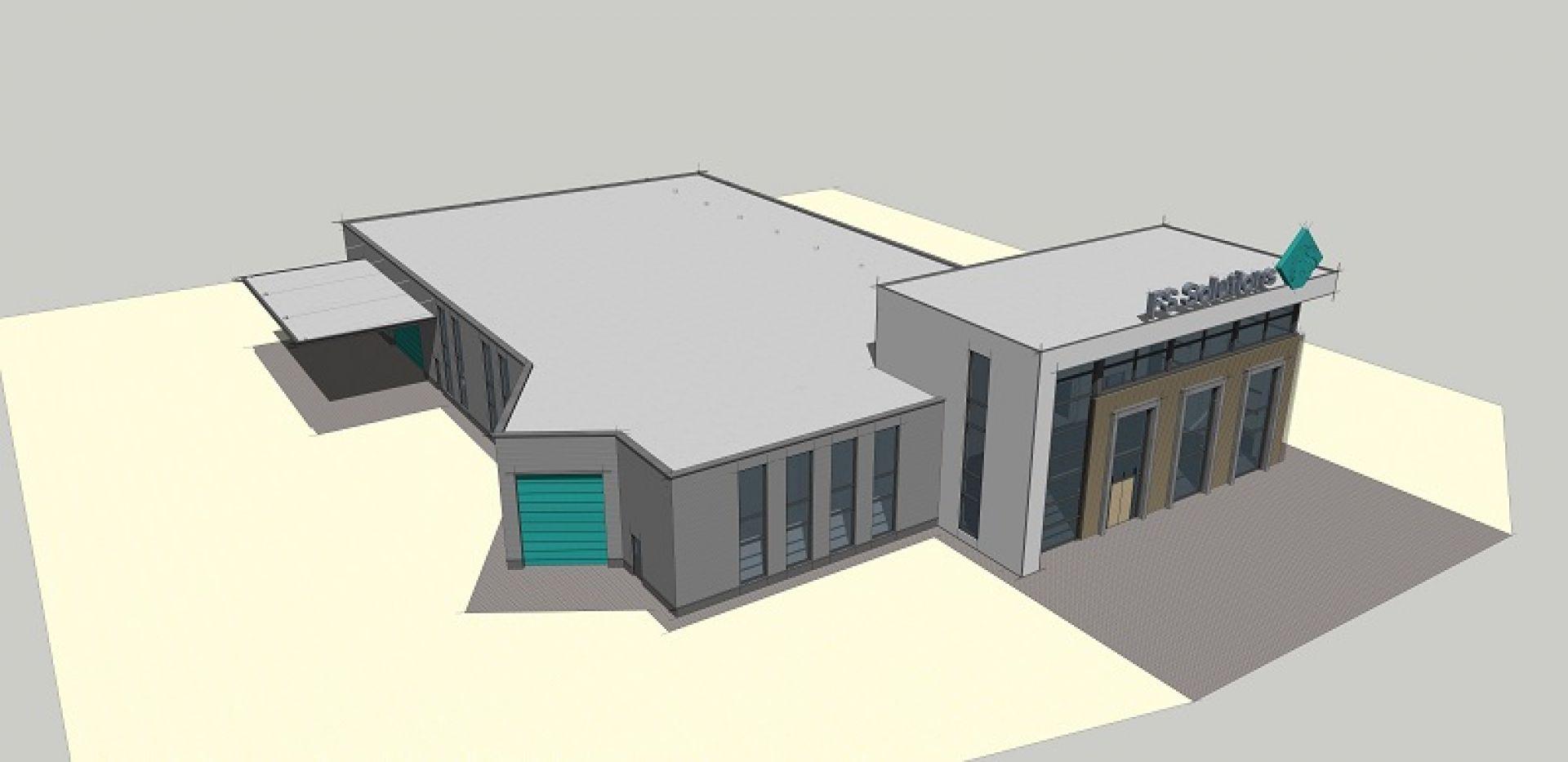 Nieuwbouw bedrijfspand FS Solutions op Zenkeldamshoek